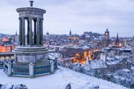 """<a href=""""https://www.cntraveler.com/destinations/edinburgh?mbid=synd_yahoo_rss"""" rel=""""nofollow noopener"""" target=""""_blank"""" data-ylk=""""slk:Edinburgh's"""" class=""""link rapid-noclick-resp"""">Edinburgh's</a> <a href=""""https://www.cntraveler.com/galleries/2013-12-31/worlds-best-new-years-celebrations?mbid=synd_yahoo_rss"""" rel=""""nofollow noopener"""" target=""""_blank"""" data-ylk=""""slk:Hogmanay Festival"""" class=""""link rapid-noclick-resp"""">Hogmanay Festival</a>—a three-day bacchanal celebrating the New Year, with outdoor concerts, fireworks, and <a href=""""https://www.edinburghshogmanay.com/whats-on/ceilidh-under-the-castle"""" rel=""""nofollow noopener"""" target=""""_blank"""" data-ylk=""""slk:dancing Scots"""" class=""""link rapid-noclick-resp"""">dancing Scots</a>—is reason enough to book a trip to the city. Not much of a partier? Shop for some cashmere, then curl up with your new scarf and some whisky at the speakeasy-style <a href=""""http://pandaandsons.com/"""" rel=""""nofollow noopener"""" target=""""_blank"""" data-ylk=""""slk:Panda and Sons"""" class=""""link rapid-noclick-resp"""">Panda and Sons</a>. You can also work up a sweat <a href=""""https://www.midlothian.gov.uk/info/200281/snowsports_centre"""" rel=""""nofollow noopener"""" target=""""_blank"""" data-ylk=""""slk:skiing"""" class=""""link rapid-noclick-resp"""">skiing</a> in Pentland Hills Regional Park or walking among the winter-flowering plants at the Royal Botanic Garden."""