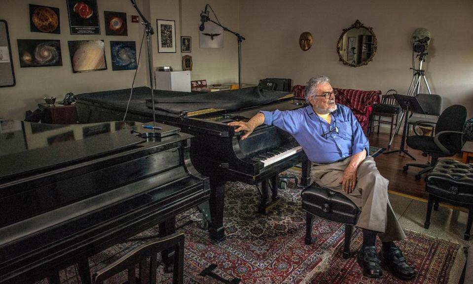 The 'Obi-Wan Kenobi' of piano … Leon Fleisher in his studio at the Peabody Conservatory in Baltimore in 2014.
