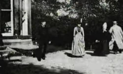 A still from the oldest surviving motion picture by  Louis Le Prince