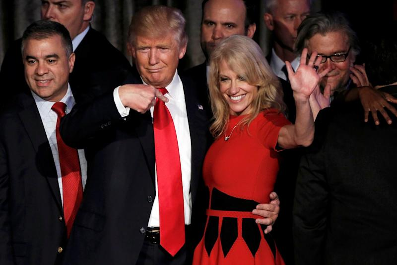 Trump has caused a rift between Kellyanne Conway and her husband, George: REUTERS