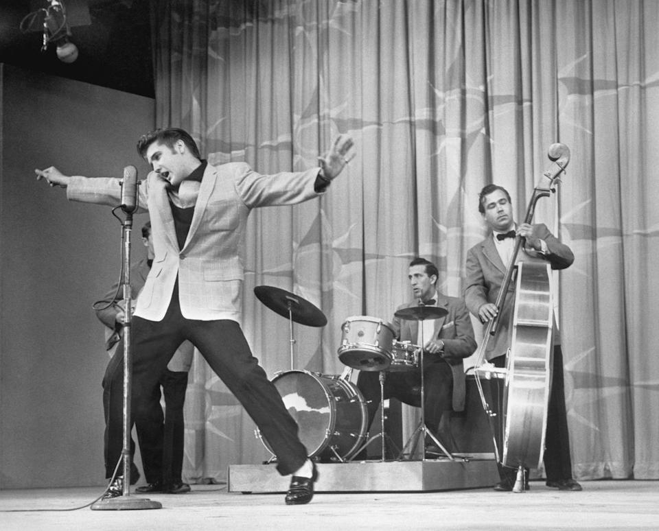 <p>Presley's debut on national television was on The Dorsey Brothers Stage Show in 1956. Afterward, the singer became a regular appearing on various variety shows.</p>