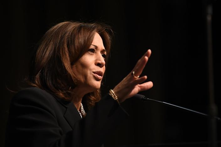 Sen. Kamala Harris at the National Action Network convention in New York in April. (Photo: Kristin Callahan/ACE Pictures/Shutterstock)