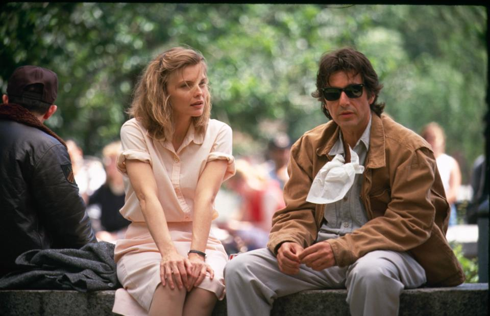 UNITED STATES - 1991: American actress Michelle Pfeiffer with co-star Al Pacino on the set of their film 'Frankie and Johnny'. (Photo by The LIFE Picture Collection via Getty Images)