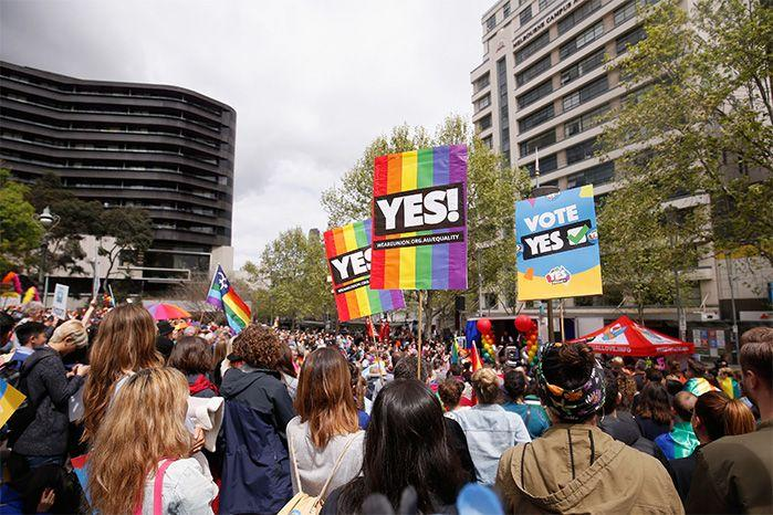 Supporters of the Yes vote had been rallying for months. Source: Getty