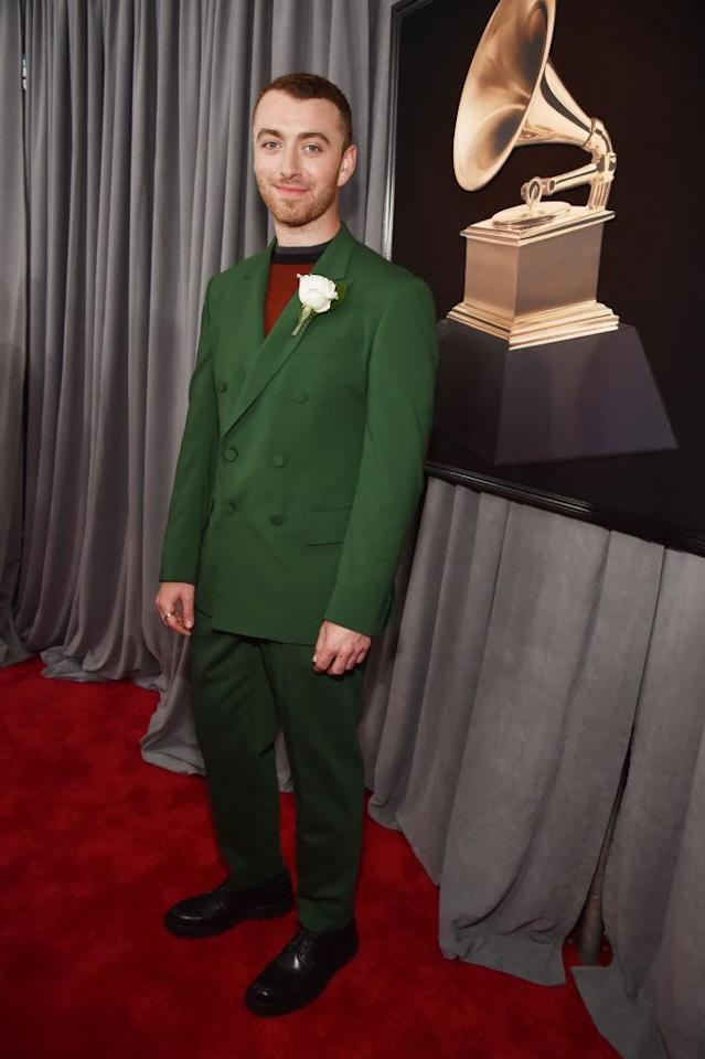 <p>Sam Smith attends the 60th Annual Grammy Awards at Madison Square Garden in New York on Jan. 28, 2018. (Photo: John Shearer/Getty Images) </p>