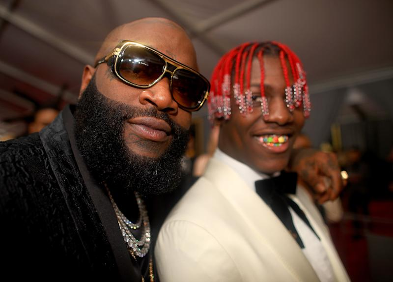 LOS ANGELES, CA - FEBRUARY 12: Rappers Rick Ross and Lil Yachty attends The 59th GRAMMY Awards at STAPLES Center on February 12, 2017 in Los Angeles, California. (Photo by Christopher Polk/Getty Images for NARAS)
