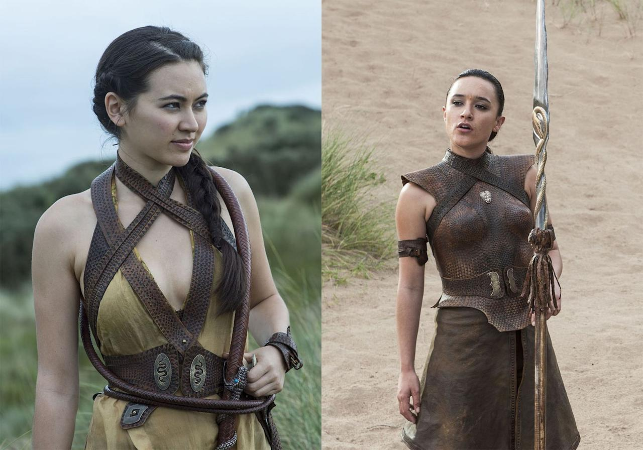 "<p>Oberyn Martell's daughters Nymeria and Obara were killed toward the end of Season 7 Episode 2, ""Stormborn,"" when Euron Greyjoy attacked Yara Greyjoy's fleet on its way to Dorne in the middle of the night. Euron stabs Obara in the gut with a spear and strangles Nymeria. At the end of the battle, he leaves their bodies hanging from the ship, leaving no doubt that they're dead.  </p>"