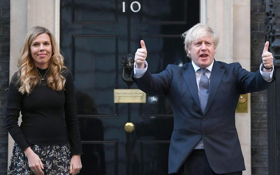 Boris and Carrie Johnson are now expecting a second child, due in December - PA