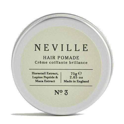 """<p><a class=""""body-btn-link"""" href=""""https://www.cowshed.com/uk/neville-hair-pomade-75g.html"""" target=""""_blank"""">SHOP</a></p><p>All-natural Neville (Cowshed's newly designed men's line) has created a consistent line of products perfectly suited for the modern man, its pomade included. </p><p>Ideal for creating that slightly slicker look, the horsetail extract will help strengthen your hair and the maca root extract can stimulate hair growth (winner).</p><p>Neville Hair Pomade, £14, <a href=""""https://www.cowshed.com/uk/neville-hair-pomade-75g.html"""" target=""""_blank"""">cowshed.com</a></p>"""