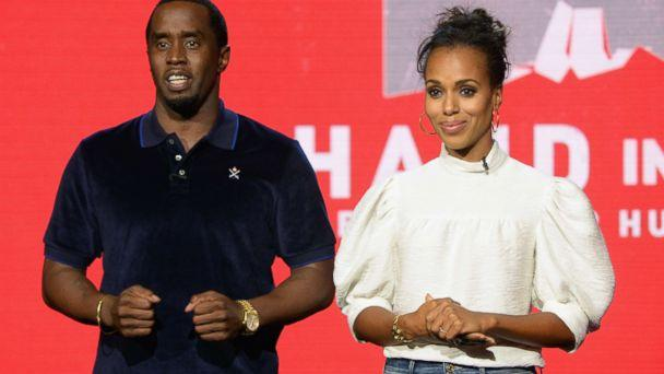 PHOTO: Sean 'Diddy' Combs and Kerry Washington attend Hand in Hand: A Benefit for Hurricane Relief at Universal Studios AMC on Sept. 12, 2017 in Universal City, Calif. (Kevin Mazur/Hand in Hand/Getty Images)
