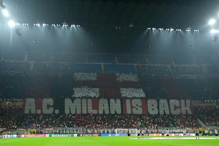 Tuesday's match was AC Milan's first Champions League home fixture since losing to Atletico Madrid in 2014 (AFP/MIGUEL MEDINA)