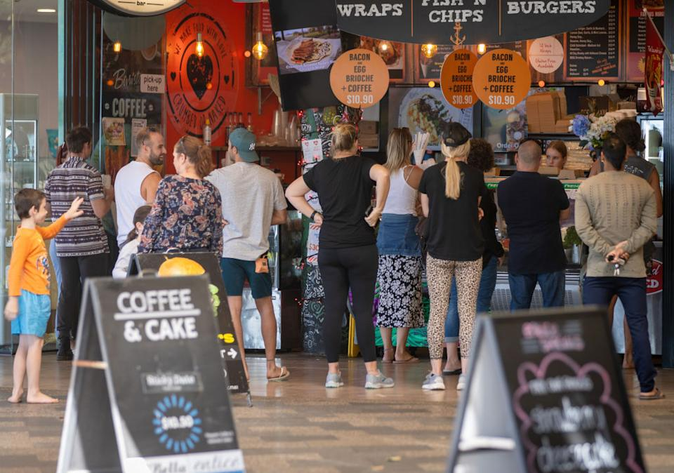Cafes and restaurants are being allowed to open under strict guidelines. Source: Getty