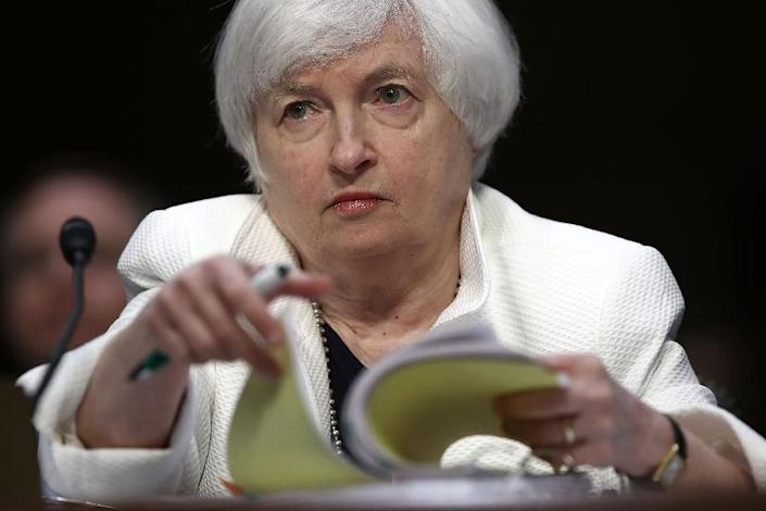 Federal Reserve Board Chairwoman Janet Yellen testifies before the Senate Banking, Housing and Urban Affairs Committee on June 21, 2016 in Washington, DC (AFP Photo/Win McNamee)