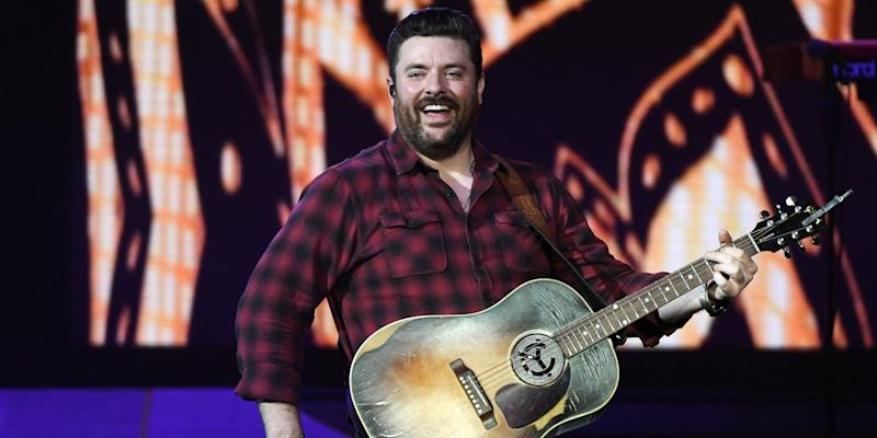 Singer/songwriter Chris Young performs during a stop of the Raised on Country World Tour 2019 at MGM Grand Garden Arena on August 17, 2019 in Las Vegas, Nevada.