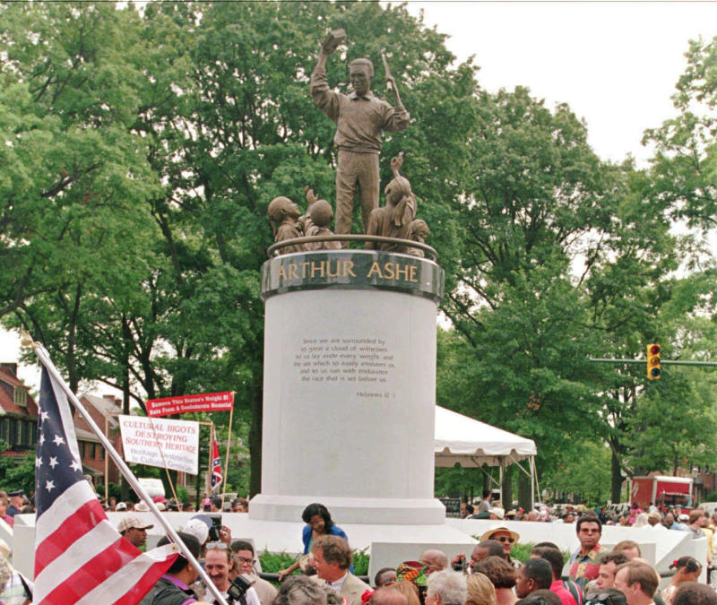 America Protests-Ashe Monument