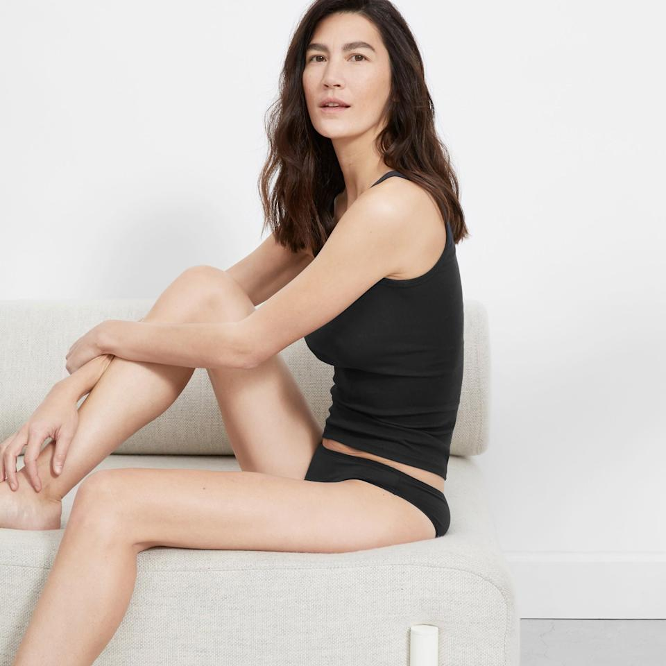 """<h3>Everlane Bikini </h3><br><br><strong>The Lightest</strong><br><br>Happy customers had a lot to say about this underwear's overall comfort, fit, and quality, but more than one reviewer praised their lightweight Supima cotton composition — an added bonus that's sure to make the summer months a little more bearable down there.<br><br><strong>The Hype:</strong> 4.66 out of 5 stars; 995 reviews on <a href=""""https://www.everlane.com/products/womens-bikini-black?"""" rel=""""nofollow noopener"""" target=""""_blank"""" data-ylk=""""slk:Everlane.com"""" class=""""link rapid-noclick-resp"""">Everlane.com</a><br><br><strong>What They Are Saying: </strong>""""These are comfy and have a good fit. The cotton is thin and breathable. Overall I really like them. Would order again."""" — Loscheiner, Everlane.com reviewer<br><br><strong>Everlane</strong> The Bikini, $, available at <a href=""""https://go.skimresources.com/?id=30283X879131&url=https%3A%2F%2Fwww.everlane.com%2Fproducts%2Fwomens-bikini-black%3F"""" rel=""""nofollow noopener"""" target=""""_blank"""" data-ylk=""""slk:Everlane"""" class=""""link rapid-noclick-resp"""">Everlane</a>"""