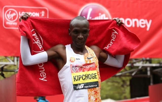 Eliud Kipchoge smashed the course record in 2019 (Paul Harding/PA)
