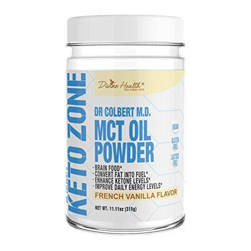 """<p><strong>Divine Health</strong></p><p>amazon.com</p><p><strong>$22.47</strong></p><p><a href=""""https://www.amazon.com/dp/B07D2HRPHF?tag=syn-yahoo-20&ascsubtag=%5Bartid%7C1782.g.24488778%5Bsrc%7Cyahoo-us"""" rel=""""nofollow noopener"""" target=""""_blank"""" data-ylk=""""slk:BUY NOW"""" class=""""link rapid-noclick-resp"""">BUY NOW</a></p><p>It's insanely hard to find keto creamers that are flavored, but this one hits the mark.</p>"""