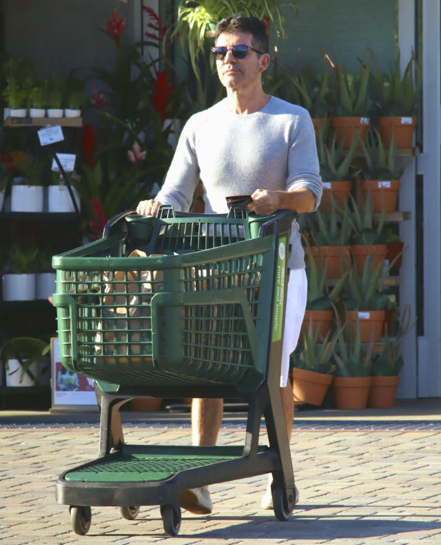 <p>Simon Cowell makes a grocery run solo on Tuesday in Los Angeles.</p>