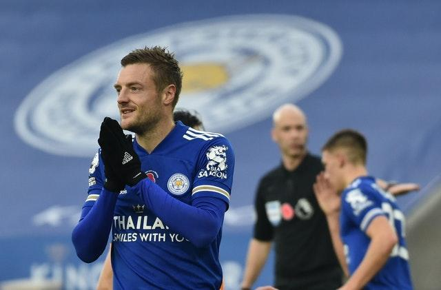 Vardy reacts after missing a second penalty