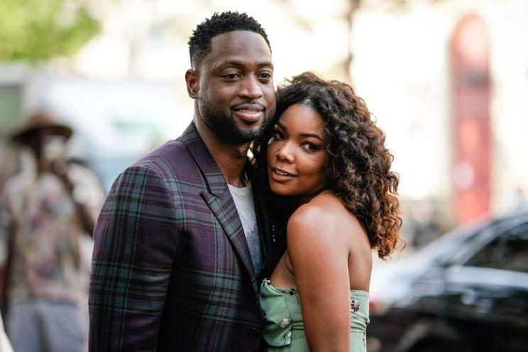 PARIS, FRANCE - JUNE 21: Basketball player Dwayne Wade and Gabrielle Union are seen outside the Valentino show, during Paris Fashion Week - Menswear Spring/Summer 2018, on June 21, 2017 in Paris, France. (Photo: Getty Images)