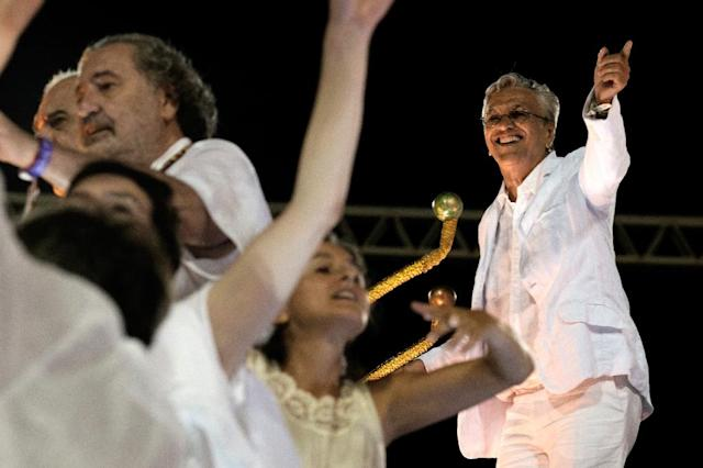 Brazilian composer and singer Caetano Veloso will feature at the Rio Olympics opening ceremony (AFP Photo/Yasuyoshi Chiba)
