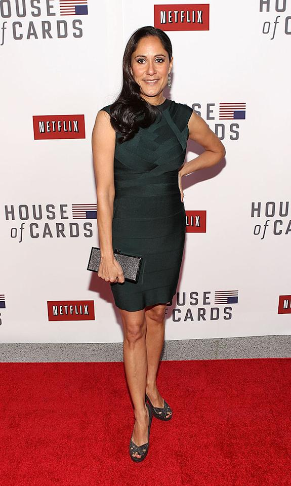 "Sakina Jaffrey attends Netflix's ""House of Cards"" Washington DC Screening at the NEWSEUM on January 29, 2013 in Washington, DC."