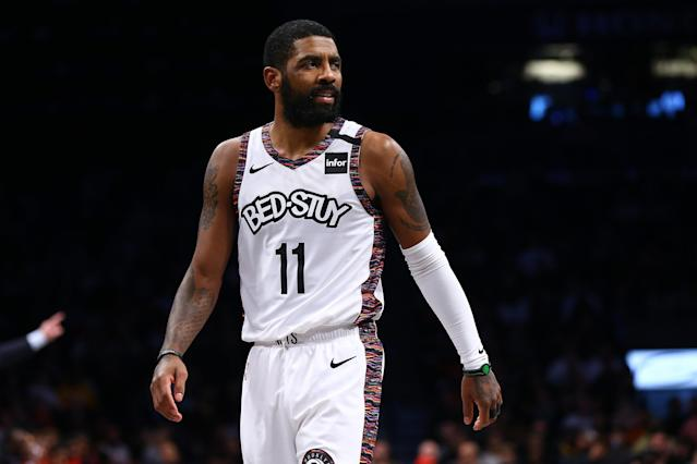 Kyrie Irving has some opinions about what NBA players should do. (Photo by Mike Stobe/Getty Images)