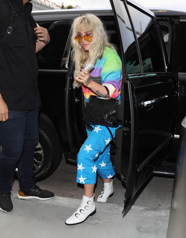 Kesha is spotted in L.A. on June 4. (Photo: SMXRF/Star Max/GC Images)