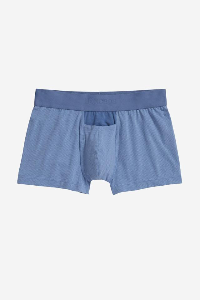 """<p><strong></strong></p><p>bonobos.com</p><p><a href=""""https://go.redirectingat.com?id=74968X1596630&url=https%3A%2F%2Fbonobos.com%2Fproducts%2Funderwear%3Fcolor%3Dazure%2Bslate%2Bfeeder%2Bstripe&sref=https%3A%2F%2Fwww.menshealth.com%2Fstyle%2Fg31819073%2Fbonobos-extra-50-sale-mens-deals%2F"""" target=""""_blank"""">BUY IT HERE</a></p><p><del>$34.00</del><strong><br>$21.00</strong></p><p>Let's face it: there's no better feeling than lounging around in your boxers. There's also no better time to revamp your underwear game than present.<br></p>"""
