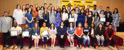 The Marquette Bank Education Foundation awarded 56 scholarships of $2,500 to local graduating high school seniors. Since the program began, more than $3.4 million in scholarships has been awarded to over 1,700 students from Chicagoland neighborhoods. For additional photos, please visit https://emarquettebank.com/scholarshipphotos2019/.