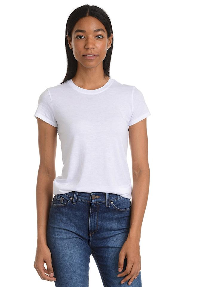 "$30, Mott & Bow. <a href=""https://www.mottandbow.com/fitted-crew-tee-marcy-heather-gray.html"">Get it now!</a>"