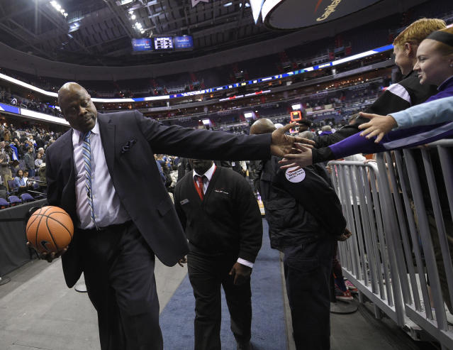 Georgetown head coach Patrick Ewing (AP Photo/Nick Wass)