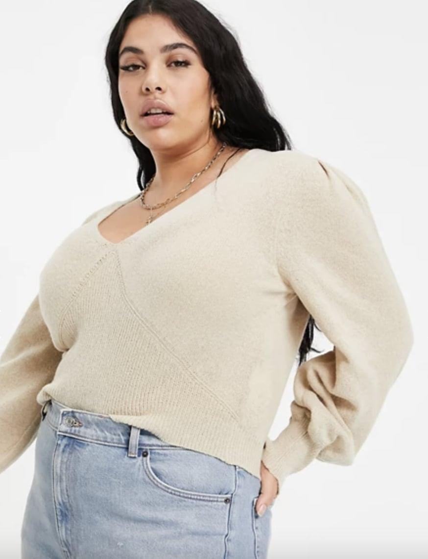 <p>This <span>Missguided Recycled Sweater</span> ($40) looks so flattering and stylish.</p>