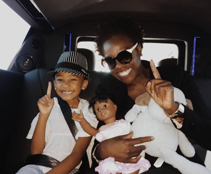 "<p>Davis, Genesis and Genesis' doll were all smiles as they headed to <a href=""https://www.instagram.com/p/BYEO-ZMgJ_g/"" rel=""nofollow noopener"" target=""_blank"" data-ylk=""slk:&quot;Vegas baby!!!&quot;"" class=""link rapid-noclick-resp"">""Vegas baby!!!""</a> in August 2017. </p>"
