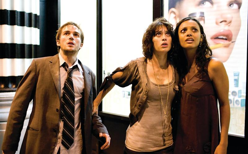 L-R: Michael Stahl-David, Lizzy Caplan and Jessica Lucas in 2008's 'Cloverfield' (Credit: Paramount)