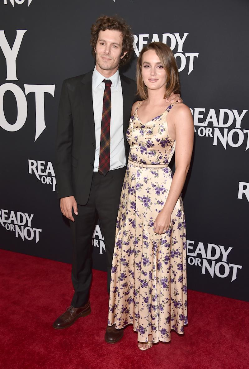 "Adam Brody and Leighton Meester attend the premiere of Fox Searchlight's ""Ready Or Not"" at ArcLight Culver City on August 19, 2019 in Culver City, California. (Photo by Alberto E. Rodriguez/WireImage)"