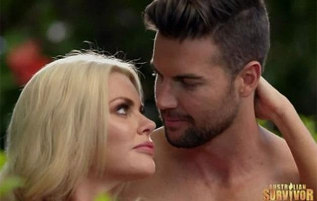 The pair very nearly kissed, but the other suitors threw them off. Source: Network Ten