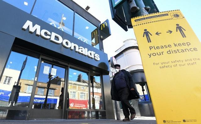 McDonalds limited reopening