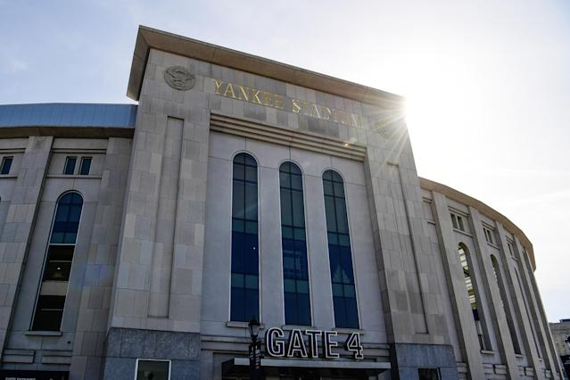 A general view of Yankee Stadium in the Bronx borough of New York City before a game. (Sarah Stier/Getty Images)