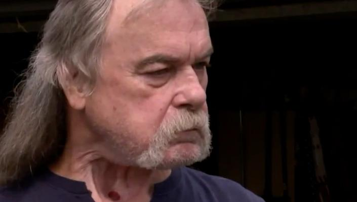 """Geisenheyner thought he might as well be """"just as stupid"""" as the people he disagrees with. (Photo: WDAF TV)"""