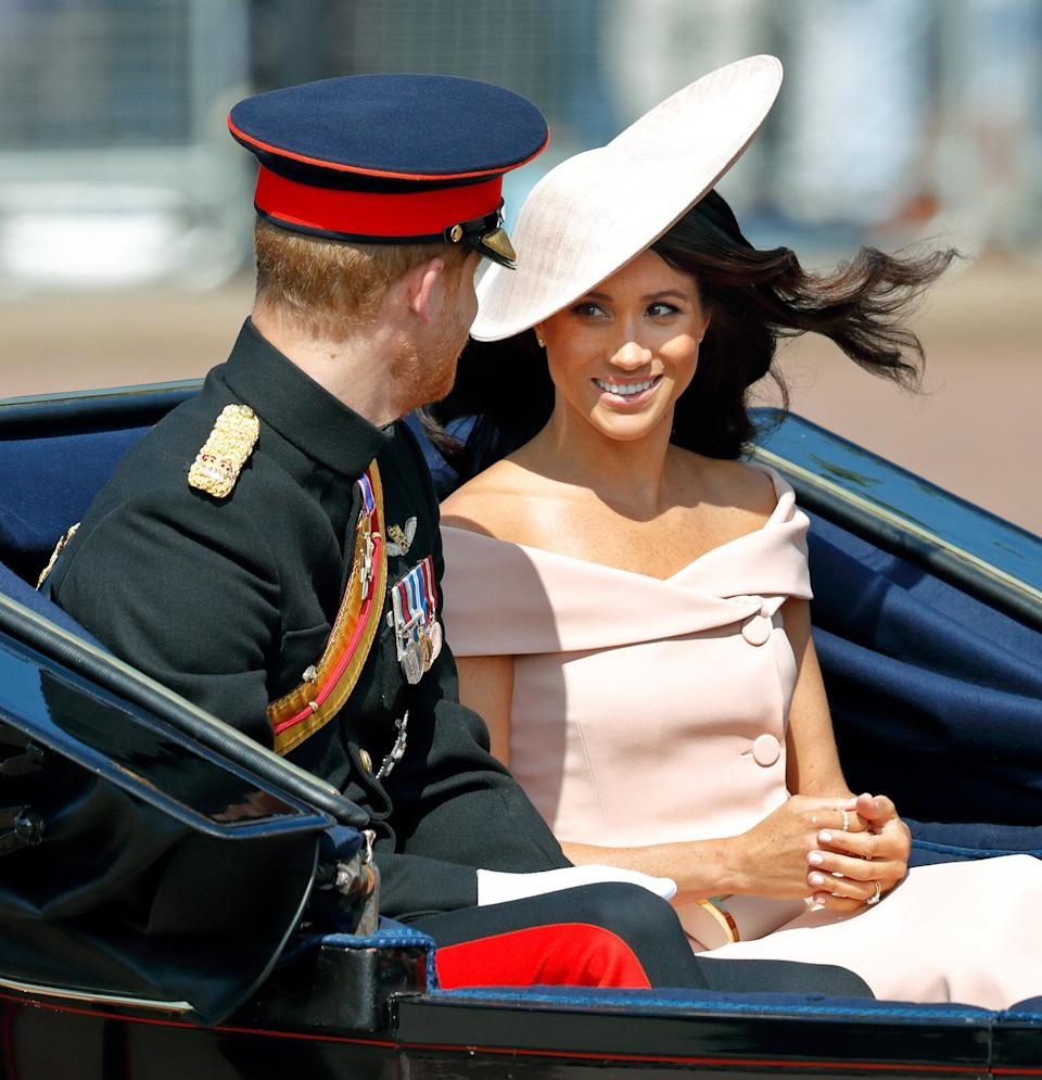 On June 9, 2018 the Duchess made her Trooping the Colour debut [Photo: Getty]