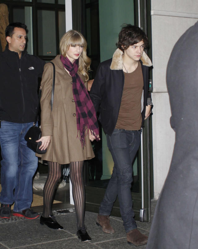 Taylor Swift and Harry Styles at the Crosby Hotel in NYC. (Photo: Miles Diggs/Splash News and Pictures)