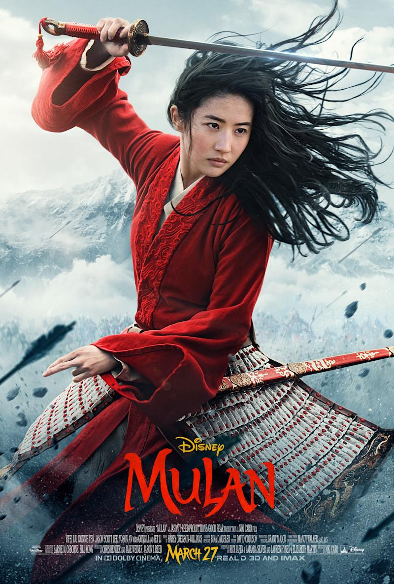The UK poster for Disney's Mulan.