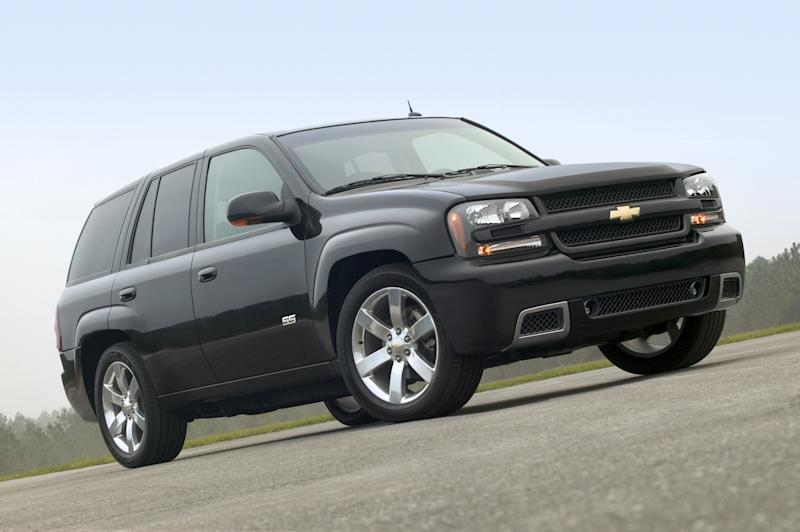 RETRANSMISSION TO CORRECT NUMBER OF VEHICLES RECALLED TO 258,000 - FILE - This undated file photo made available by General Motors Co., shows the 2006 Chevy TrailBlazer SS sport utility vehicle. General Motors and Isuzu are recalling more than 258,000 SUVs because the window and door lock switches can cause fires. The recall covers the Chevrolet TrailBlazer, GMC Envoy, Buick Rainier, Isuzu Ascender and Saab 97-X SUVs from the 2006 and 2007 model years. The SUVs were sold or registered in 20 states and Washington, D.C., where salt and other chemicals are used to clear roads in the winter, Saturday, Aug. 18, 2012. (AP Photo/General Motors Co., File)