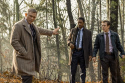 Daniel Craig, Lakeith Stanfield and Noah Segan in 'Knives Out'