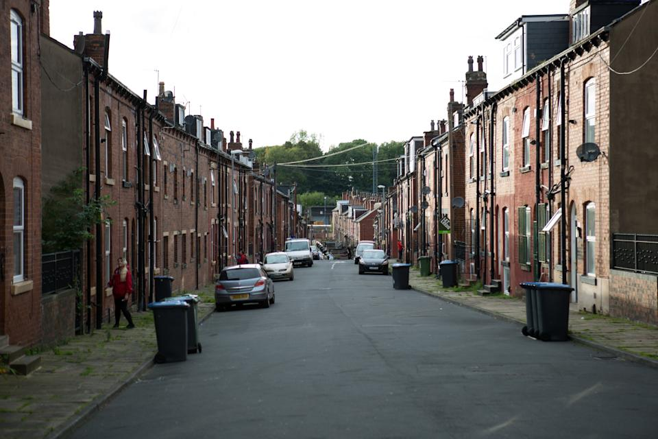 LEEDS, UNITED KINGDOM - 2017/09/21: Some Local council housings neighborhood seen in the woodhouse area in Leeds.  Social housingis a method ofhousing tenurein which the home is possessed by a local authority, which may be central or local, Social housingis a rental housing which may be owned and ran by the state, by non-profit organizations, or by a combination of the two, usually with the purpose of deliveringaffordable housing. Social housing can also be perceived as a potential solution tohousing inequality. (Photo by Rahman Hassani/SOPA Images/LightRocket via Getty Images)
