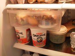 """<div class=""""caption-credit""""> Photo by: Stargirl</div><div class=""""caption-title""""></div><b>2. Rotate time-sensitive foods in the fridge and cupboards</b> <br> A cluttered refrigerator can lead to waste because fresh foods can get pushed to the back of shelves and drawers and overlooked when preparing upcoming meals. Opened cheese packages start to go moldy, fresh produce wilts and unseen food items are re-purchased while the obscured items eventually go bad. Check your fridge and cupboards regularly and bring foods that will expire soon to the front to encourage family members to eat it, or to use as ingredients in the next meal you cook. Store vegetables in crisper drawers with separate humidity controls. Organize your refrigerator with sections for fresh produce, fruit, dairy and meats so that it's easy for family members to help keep the refrigerator de-cluttered. Be sure to maintain the fridge's proper level of coldness for optimum food storage. You probably have its manual filed away or you can email the manufacturer to ascertain the best settings. <br> <br>"""