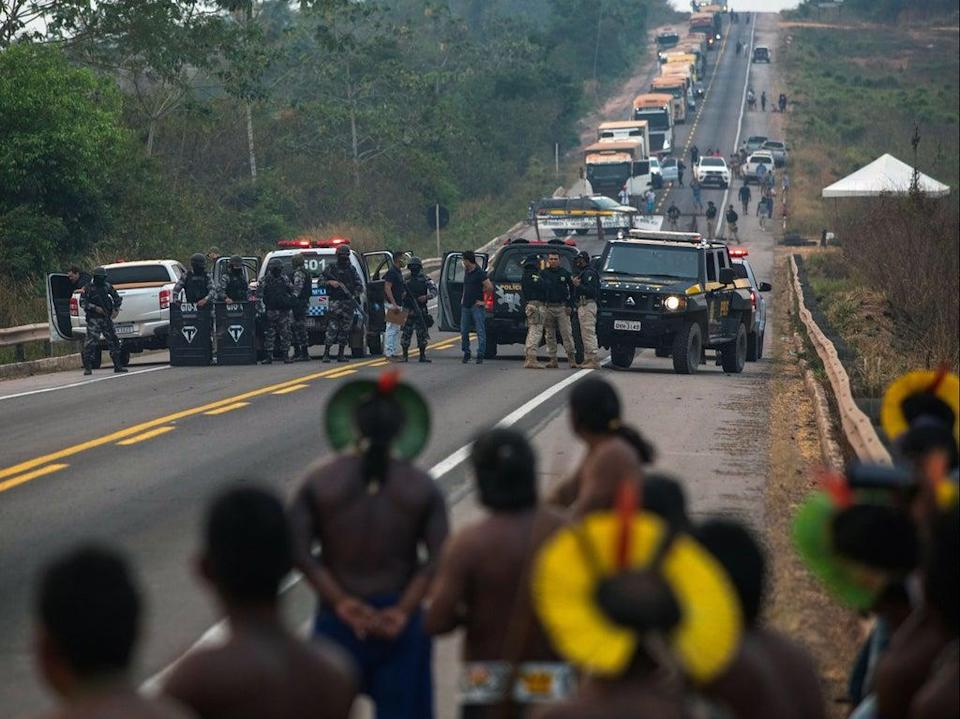 Almost three in four environmental defender attacks took place in the Americas in 2020 (AFP via Getty)