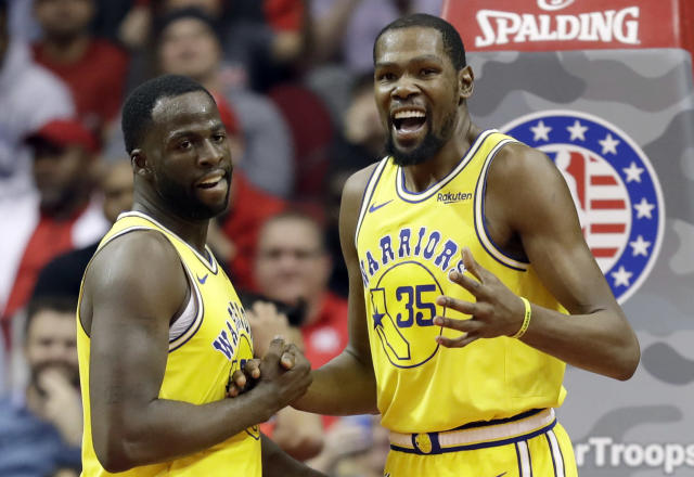 Kevin Durant is more than ready to move on from the Draymond Green incident. (AP)